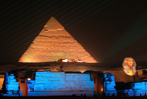 'Lower Temple', 'Sphinx' and 'Pyramid of Cheops'